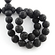 Pierres précieuses de lave naturelle chapelets de perles rondes(G-R285-8mm-06)-2
