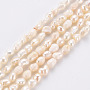 Natural Cultured Freshwater Pearl Beads Strands, Rice, 1~7x2.5~5.5x1~3mm, Hole: 0.35mm, about 98~122pcs/strand, 14.37 inches~15.55 inches(36.5~39.5cm)