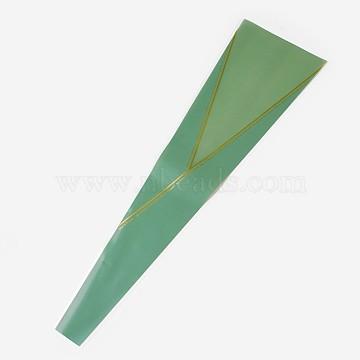 Sac d'emballage de rose, seagreen, 45x4~13 cm(ABAG-WH0011-05)