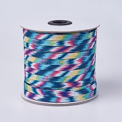 Polycotton(Polyester Cotton) Cords, Flat, Colorful, 7x1mm; about 50yards/roll(45.72m/roll), 150 feet/roll(OCOR-F008-A01)