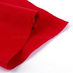 Feutre à l'aiguille de broderie de tissu non tissé pour l'artisanat de bricolage, rouge, 450x1.5~2 mm; environ 1 m/rouleau(DIY-R069-06)