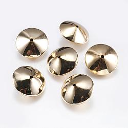 Perles en laiton, disque, véritable plaqué or, 20x10mm, Trou: 1mm(KK-F740-08G)