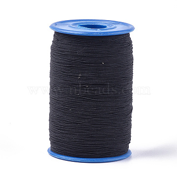 Round Elastic Cord, Black, 0.6mm, about 546.8 yards(500m)/roll(EW-T001-18)