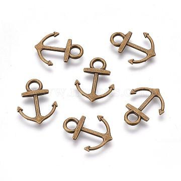 Antique Bronze Anchor & Helm Alloy Pendants
