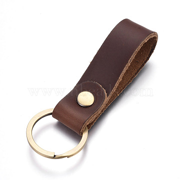 CoconutBrown Rectangle Leather Key Chain