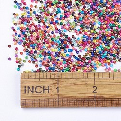 FGB&reg 13/0 Baking Paint Glass Seed Beads, Grade AA, Round, Mixed Color, 2~2.3x1.5mm, Hole: 0.7~1mm; about 48500pcs/pound(SEED-N001-AM)