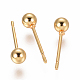 Vacuum Plating 304 Stainless Steel Ball Stud Earrings(EJEW-I232-01B-G)-1