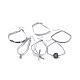 Faux Suede & Velvet Choker Necklaces(NJEW-TAC0002-A01)-2