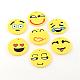 Handmade Smile Face Polymer Clay Pendants(X-CLAY-R060-110)-1