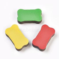 Gommes à effacer de tableau, couleur aléatoire simple ou couleur mélangée aléatoire, 70x40x18mm(AJEW-WH0052-05)