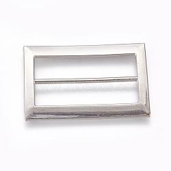 Boucles en alliage, rectangle, platine, 61x40x3mm, Trou: 11.5x50mm(PALLOY-WH0059-01F-P)