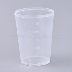 50ml Polypropylene(PP) Measuring Cup, Graduated Cup, Clear, 4.2x5.7cm, Capacity: 50ml(1.69 fl. oz)(TOOL-WH0021-48)