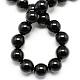 Natural Obsidian Bead Strands(X-G-R173-6mm-02)-2