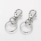 Iron Swivel Clasps with Key Rings(X-HJEW-H018-P)-1