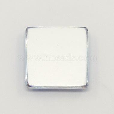 Cartoon Girl Photo Glass Square Cabochons(GGLA-N001-15mm-E37)-2