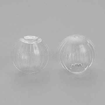 16mm Clear Round Glass Beads
