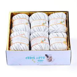 Baby Yarns, with Cotton, Silk and Cashmere, Gray, 1mm; about 50g/roll, 6rolls/box(YCOR-R028-YBB15)