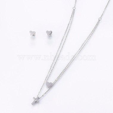 304 Stainless Steel Jewelry Sets(X-SJEW-O090-34P)-1