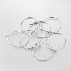 Fer boucle d'oreille, platine, 35 mm de diamètre(X-E220)