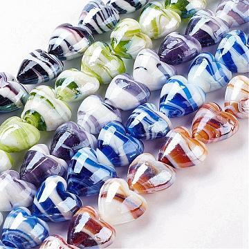 20mm Mixed Color Heart Lampwork Beads