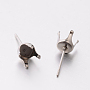 Stainless Steel Color Stainless Steel Earring Settings(X-STAS-E074-20)
