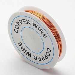 Fil de bijoux en cuivre, brun, 20 jauge, 0.8 mm; environ 3 m/rouleau(X-CW0.8mm014)