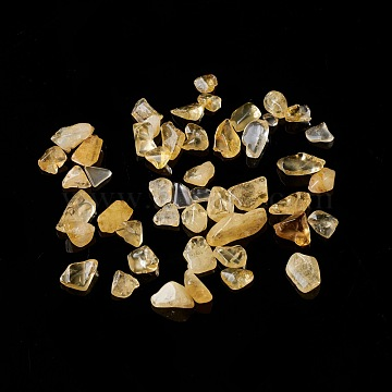 Natural Citrine Chip Beads, No Hole/Undrilled, 5~10.5x5~7x2~4mm(G-M364-03B)