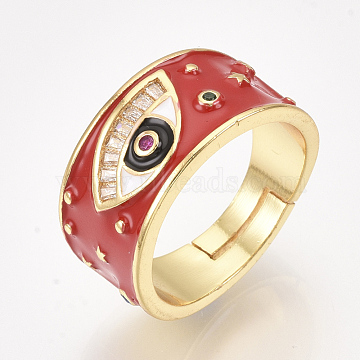 Red Brass Finger Rings