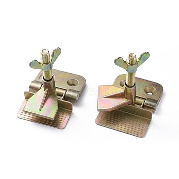 Zinc Plated, Multi-color Plated Silk Screen Printing Metal Butterfly Hinge Clamp, 84x58x86mm(FIND-WH0051-90)