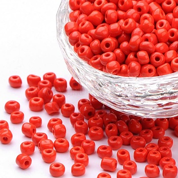 4mm Red Glass Beads