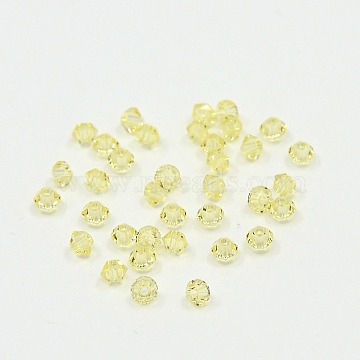 Austrian Crystal Beads, 5301 3mm, Bicone, Jonquil, Size: about 3mm long, 3mm wide, Hole: 0.8mm(X-5301-3mm213)