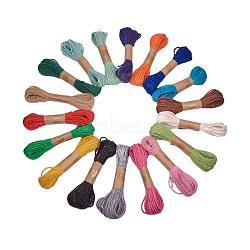 Corde de chanvre, chaîne de chanvre, ficelle de chanvre, pour la fabrication de bijoux, couleur mixte, 1.5~2 mm; 10 m / bundle(OCOR-PH0003-40)