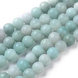 "Brins ronds de perles amazonite naturel, 8mm, trou: 1mm; environ 46 pcs/chapelet, 16""(G-I183-02-8mm)"