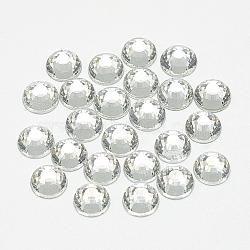 cabochons en verre strass à dos plat, Retour plaqué, demi-tour, cristal, ss 8, 2.5 mm; sur 1440 PCs / sac(RGLA-T090-SS8-01)