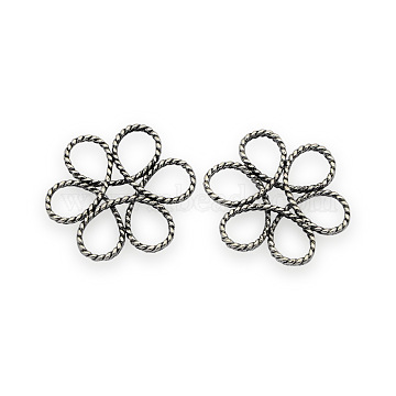 Antique Silver Flower Brass Beads