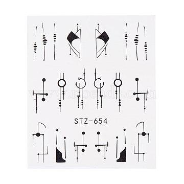 наклейки для ногтей, самоклеящийся, для украшения ногтей, черный, 6.3x5.2 cm(X-MRMJ-Q042-C20)