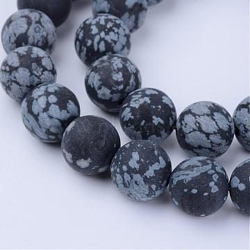 8mm Round Snowflake Obsidian Beads
