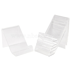 Acrylic Book Display Stands, Clear, 9.5x6.5x6.5cm(ODIS-WH0004-01)