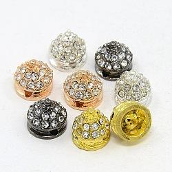 Perles strass en alliage de rivet, Grade a, cône, couleur mixte, 8x8mm, Trou: 1mm(RB-I027-8x8mm-01M)