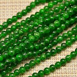 "Grade A gemme naturel brins diopside de perles, rond, 8mm, trou: 1mm; environ 58 pcs/chapelet, 19.7""(G-O017-8mm-03A)"