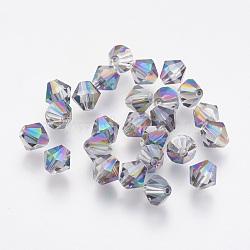 imitation perles de cristal autrichien, AAA grade, facettes, Toupie, coloré, 6x6 mm, trou: 0.7~0.9 mm(SWAR-F058-6mm-31)