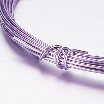 1mm MediumPurple Aluminum Wire