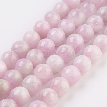 6mm Pink Round Kunzite Beads