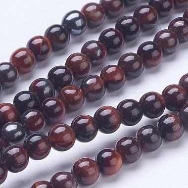 6mm Brown Round Tiger Eye Beads