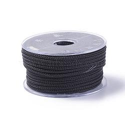 Câble de fil d'acier tressé, bricolage bijoux matériau de fabrication, avec bobine, noir, 3 mm; environ 5 m/rouleau(OCOR-G005-3mm-A-01)