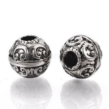 CCB Plastic European Beads, Large Hole Beads, Rondelle, Antique Silver, 17x15mm, Hole: 5.5mm; about 239pcs/500g(CCB-S160-381AS)