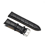 Black Leather Watch Band(WACH-F017-10B)