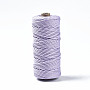 Cotton String Threads, Macrame Cord, Decorative String Threads, for DIY Crafts, Gift Wrapping and Jewelry Making, Lilac, 3mm, about 109.36 yards(100m)/roll
