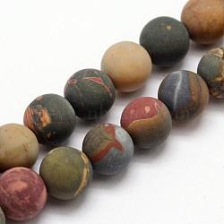 """Pierre naturelle picasso / jaspe picasso brins de perles givrées, rond, 8mm, trou: 1mm; environ 49 pcs/chapelet, 15.4""""(G-O155-03A-8mm)"""