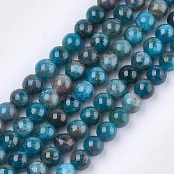 """Chapelets de perles en apatite naturelle, grade AB, rond, 8mm, trou: 1mm; environ 45~48 pcs/chapelet, 15.3""""(G-S333-8mm-031)"""